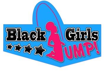 Black Girls Jump logo blue